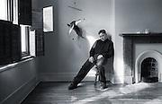 PICTURE BY HOWARD BARLOW..ARTIST - BERNARD SUMNER - NEW ORDER.VENUE   - HOME in MANCHESTER.DATE    - 25 APRIL 1995