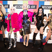 NLD/Amsterdam/20181105 - Lancering De Moschino TV x H&M-collectie, Drag Queen's