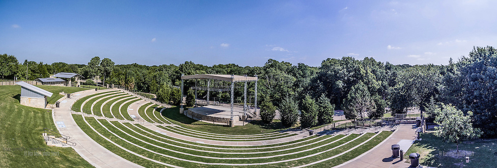 Overall view of the Amphitheater at Oak Point Park, Plano Texas