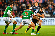 James King of Ospreys in action during todays match<br /> <br /> Photographer Craig Thomas/Replay Images<br /> <br /> Guinness PRO14 Round 4 - Ospreys v Benetton Treviso - Saturday 22nd September 2018 - Liberty Stadium - Swansea<br /> <br /> World Copyright &copy; Replay Images . All rights reserved. info@replayimages.co.uk - http://replayimages.co.uk