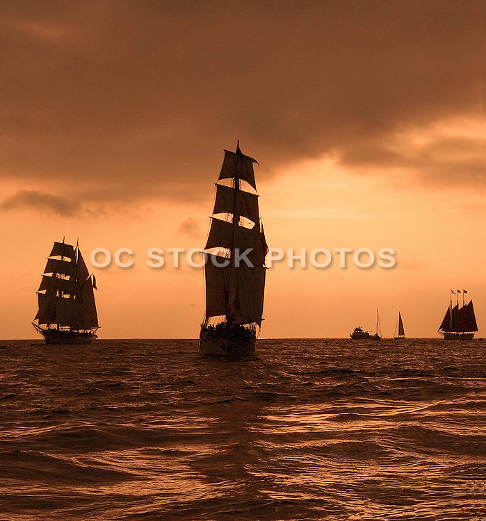 Tall Ships off the Coast of Dana Point
