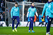 Leeds United midfielder Jack Harrison (22) and Leeds United defender Stuart Dallas (15) warming up during the EFL Sky Bet Championship match between Leeds United and Cardiff City at Elland Road, Leeds, England on 14 December 2019.
