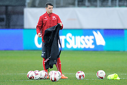 04.03.2014, AFG Arena, St. Gallen, SUI, Training der Schweizer Nationalmannschaft, vor dem Testspiel gegen Kroatien, im Bild Granit Xhaka (SUI) // during a practice session of swiss national football team prior to the international frindley against Croatia at the AFG Arena in St. Gallen, Switzerland on 2014/03/04. EXPA Pictures © 2014, PhotoCredit: EXPA/ Freshfocus/ Claudia Minder<br /> <br /> *****ATTENTION - for AUT, SLO, CRO, SRB, BIH, MAZ only*****