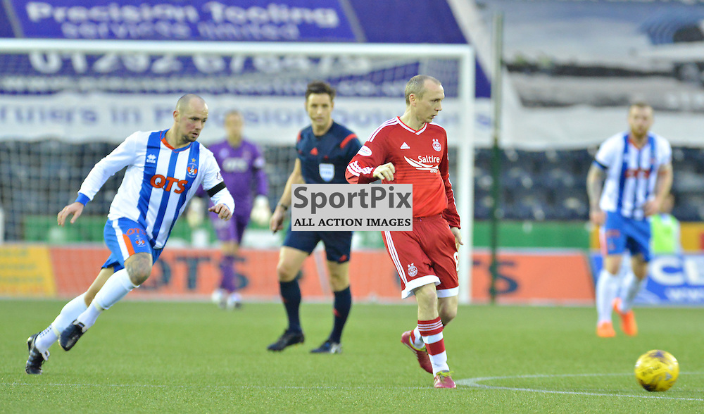 Willo Flood commands the midfield for Aberdeen at Killie.....(c) BILLY WHITE | SportPix.org.uk