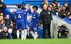 Tiemoue Bakayoko of Chelsea replaces Cesc Fabregas of Chelsea - Mandatory by-line: Alex James/JMP - 02/12/2017 - FOOTBALL - Stamford Bridge - London, England - Chelsea v Newcastle United - Premier League