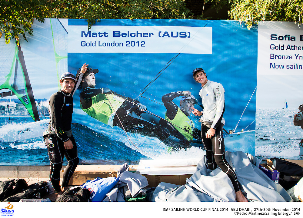 2014 ISAF Sailing World Cup Final, Abu Dhabi, United Arab Emirate. Date – 30th november, day 4 of racing. All ten Olympic sailing events are being contested in Abu Dhabi from with an open kiteboarding event joining the fray around Lulu Island off the UAE capital's stunning Corniche. Prize money will be awarded to the top three overall finishers in each of the Olympic events from a total prize purse of US$200,000. The Abu Dhabi Sailing and Yacht Club is the host of the ISAF Sailing World Cup Final with some technical facilities located at the adjacent Abu Dhabi International Marine Sports Club. The venue is located on the main island of the city with immediate access to the beautiful waters of the Arabian Gulf.