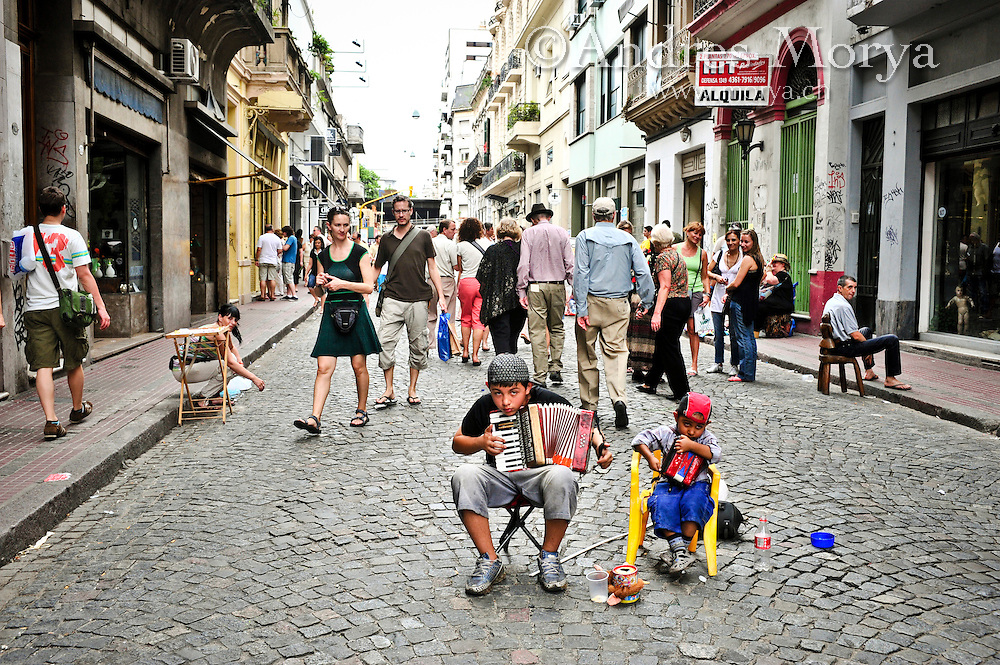 Street Scene of San Telmo, Buenos Aires, Argentina Image by Andres Morya
