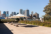 Views of Brisbane city scape from Southbank, Queensland, Australia