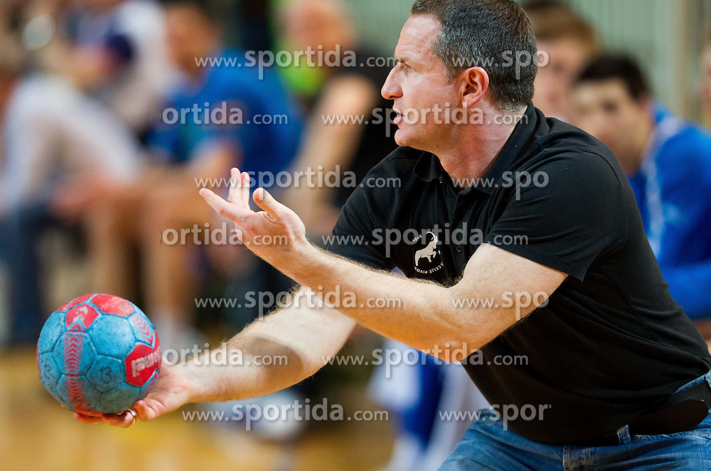 Vladan Matic, head coach of Celje during handball match between RK Cimos Koper and RK Celje Pivovarna Lasko in 26th Round of 1st NLB Leasing league 2012/13 on April 14, 2013 in Arena Bonifika, Koper, Slovenia. (Photo By Vid Ponikvar / Sportida)