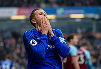 Football-2017/2018 Premier League - Burnley v  Everton <br /> <br /> Gylfi Sigurdsson of Everton reacts to a missed chance at Turf Moor.<br /> <br /> COLORSPORT