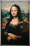 Da Vinci Mona Lisa from Lego building blocks at the Holon Children's museum. Holon, Israel