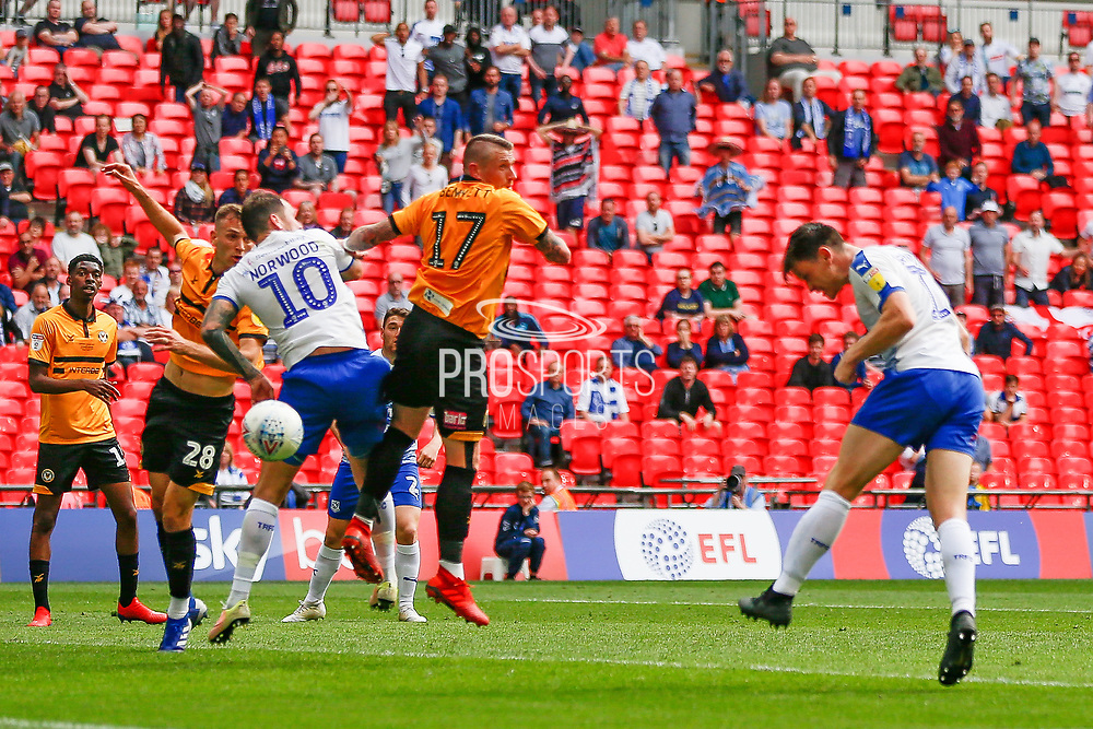 GOAL 1-0 Tranmere Rovers forward Connor Jennings (11) scores during the EFL Sky Bet League 2 Play Off Final match between Newport County and Tranmere Rovers at Wembley Stadium, London, England on 25 May 2019.