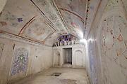 Uzbekistan, Bukhara. Abdul Aziz Khan Medressa. A student's cell.