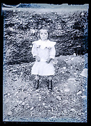 little girl in nature setting France ca 1920s