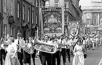 Maltby Branch banner. NUM Centenary Demonstration and Gala, Barnsley.