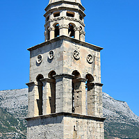 Dominican Monastery Bell Tower in Korčula, Croatia <br />