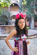 A Mexican dressed in traditional costume in San Miguel de Allende, Guanajuato, Mexico.