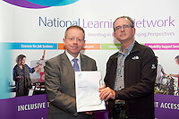 Edward Moltan who received a FETAC level 4 Certificate in Horticulture Science  Safe Horticulture practice from Minister of State for Training & Skills at the department of Education and Science Ciaran Cannon TD at the National Learning Network, Galway Certification Ceremony at the Menlo Park Hotel. Photo:Andrew Downes.