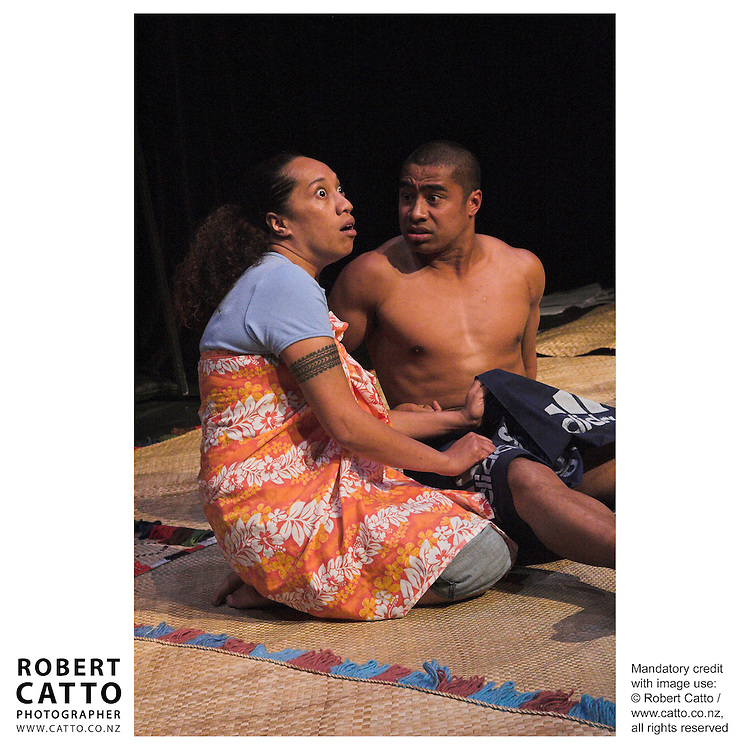 Joy Vaele;Pua Magasiva in Where We Once Belonged, a play adapted by Dave Armstrong at the New Zealand International Arts Festival Show &amp; Tell at the Capital E, Wellington, New Zealand.<br />