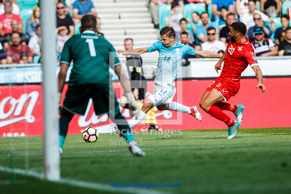 Roman Bezjak of Slovenia during the 2018 FIFA World Cup Qualifying match at SRC Stozice, Ljubljana<br /> Picture by EXPA Pictures/Focus Images Ltd 07814482222<br /> 10/06/2017<br /> *** UK &amp; IRELAND ONLY ***<br /> <br /> EXPA-SLO-170610-0012.jpg