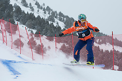 FINA PAREDES Astrid, Snowboarder Cross, 2015 IPC Snowboarding World Championships, La Molina, Spain
