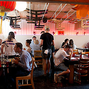 Chef Danny Bowien's restaurant, Mission Chinese, is photographed at its New York City location on the Lower East Side of Manhattan on Tuesday, July 31, 2012 in New York, NY..