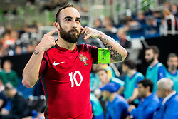 Ricardinho of Portugal during futsal match between Portugal and Azerbaijan in Quaterfinals of UEFA Futsal EURO 2018, on February 6, 2018 in Arena Stozice, Ljubljana, Slovenia. Photo by Ziga Zupan / Sportida?Ricardinho of Portugal during futsal match between Portugal and Azerbaijan in Quaterfinals of UEFA Futsal EURO 2018, on February 6, 2018 in Arena Stozice, Ljubljana, Slovenia. Photo by Ziga Zupan / Sportida