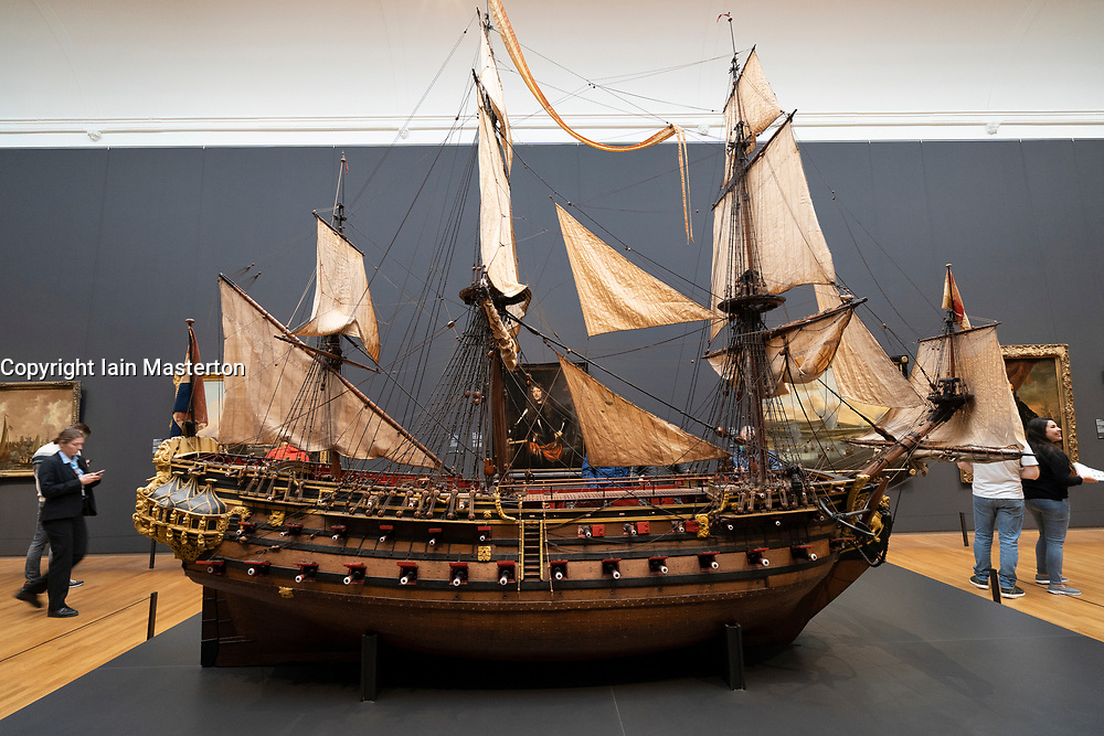Model of the William Rex ship at the Rijksmuseum, Amsterdam, Netherlands.