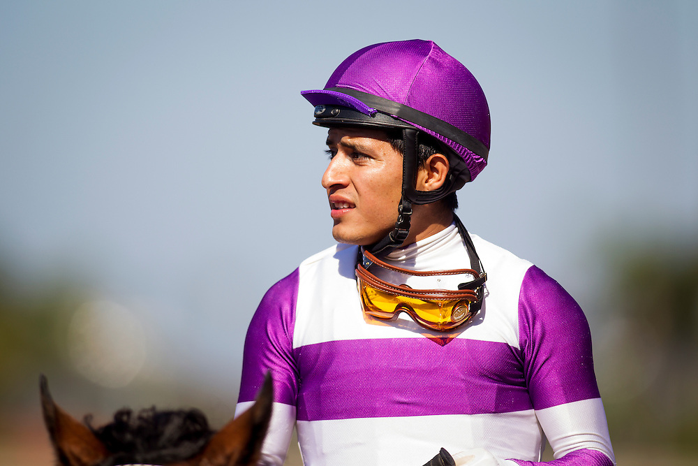 August 8 2015: Mario Gutierrez at Del Mar Race Course in Del Mar CA. Alex Evers/ESW/CSM