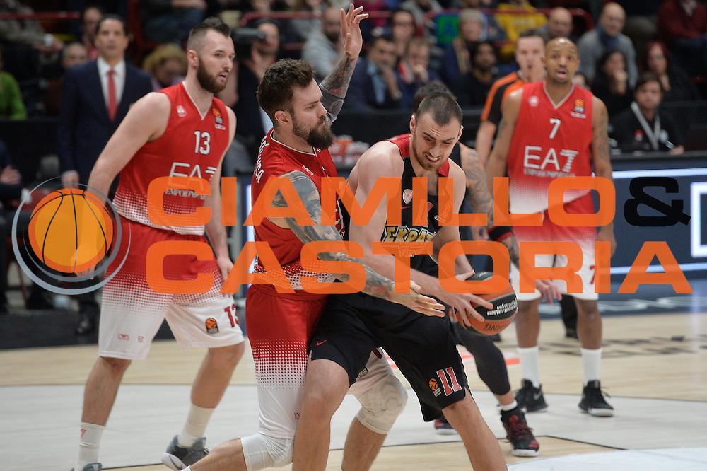 Milutinov Nikola<br /> EA7 Emporio Armani Olimpia Milano - Olympiacos Piraeus<br /> Euroleague 2016/2017<br /> Milano 25/01/2017<br /> Foto Ciamillo-Castoria