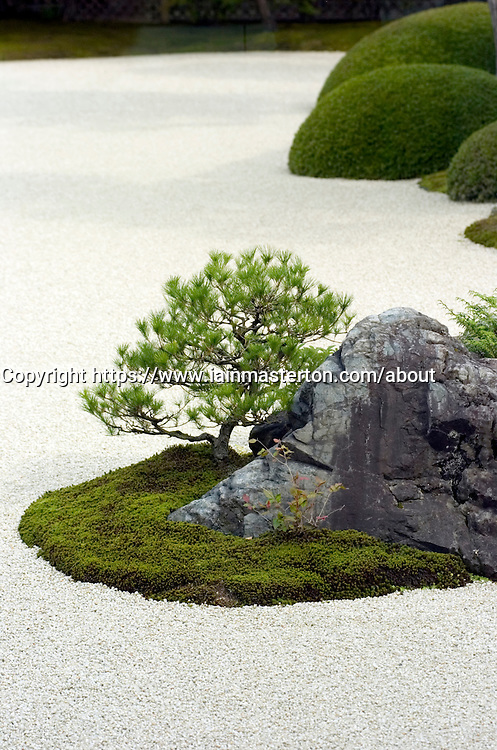 Traditional Japanese garden at Adachi art Museum in Japan