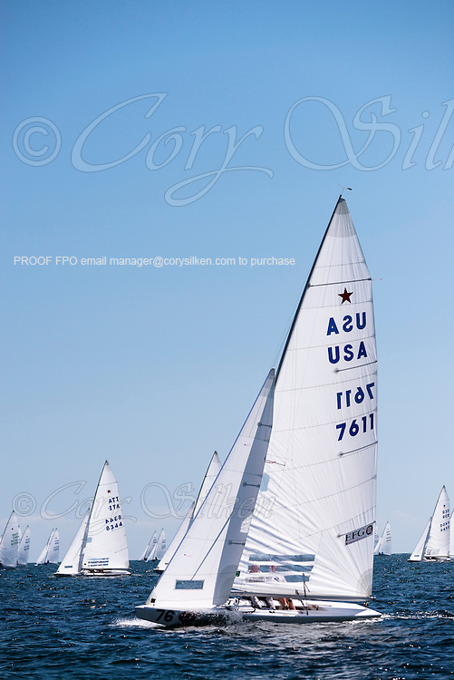7611 Star Class sailing in Bacardi Miami Sailing Week, day two.