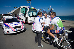 Fabrizio Bontempi, Milan Erzen and Grega Bole at 1st stage of Tour de Slovenie 2009 from Koper (SLO) to Villach (AUT),  229 km, on June 18 2009, in Koper, Slovenia. (Photo by Vid Ponikvar / Sportida)