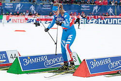 23.02.2013, Langlaufstadion, Lago di Tesero, ITA, FIS Weltmeisterschaften Ski Nordisch, Langlauf Damen, Skiathlon, im Bild Lucia Scardoni (ITA) // Lucia Scardoni of Italy during the Ladies Cross Country Skiathlon of the FIS Nordic Ski World Championships 2013 at the Cross Country Stadium, Lago di Tesero, Italy on 2013/02/23. EXPA Pictures ©  2013, PhotoCredit: EXPA/ Federico Modica