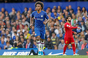 Chelsea midfielder Willian (10) during the Premier League match between Chelsea and Liverpool at Stamford Bridge, London, England on 22 September 2019.