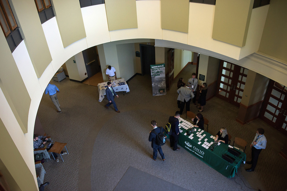 The Darren Butler Sports Forum was hosted by the Ohio University College of Business in Walter Rotunda on Friday, October 14, 2016.
