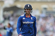 England Jason Roy on way to the pavilion during the Royal London One Day International match between England and New Zealand at the Oval, London, United Kingdom on 12 June 2015. Photo by Phil Duncan.