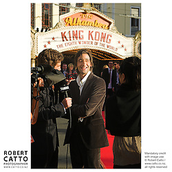 Adrian Brody is interviewed on the red carpet at thepremiere of Peter Jackson's King Kong at Wellington's Embassy Theatre.