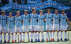 DEN HAAG - Rabobank Hockey World Cup<br /> 28 Argentina - South Africa<br /> Foto: Argentina men.<br /> COPYRIGHT FRANK UIJLENBROEK FFU PRESS AGENCY