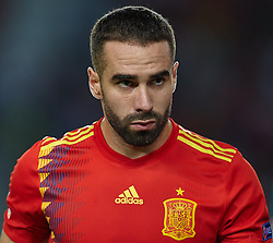September 11, 2018 - Elche, Alicante, Spain - Carvajal of Spain looks on during the UEFA Nations League football match between Spain and Croatia at Martinez Valero Stadium in Elche on September 11, 2018  (Credit Image: © Sergio Lopez/NurPhoto/ZUMA Press)