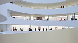 Interior of Guggenheim Museum in Manhattan New York City USA