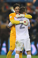 FOOTBALL - FIFA WORLD CUP 2014 - QUALIFYING - SPAIN v FRANCE - 16/10/2012 - PHOTO MANUEL BLONDEAU / AOP PRESS / DPPI -  HUGO LLORIS AND MATHIEU DEBUCHY CELEBRATE