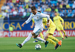 May 19, 2018 - Vila-Real, Castellon, Spain - Adrian Marin of Villarreal CF and Cristiano Ronaldo of Real Madrid during the La Liga match between Villarreal CF and Real Madrid, at La Ceramica Stadium, on may 19, 2018  (Credit Image: © Maria Jose Segovia/NurPhoto via ZUMA Press)