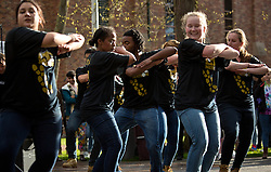 LuteNation performing before the start of PLU Relay for Life on Friday, April 24, 2015. (Photo: John Froschauer/PLU)