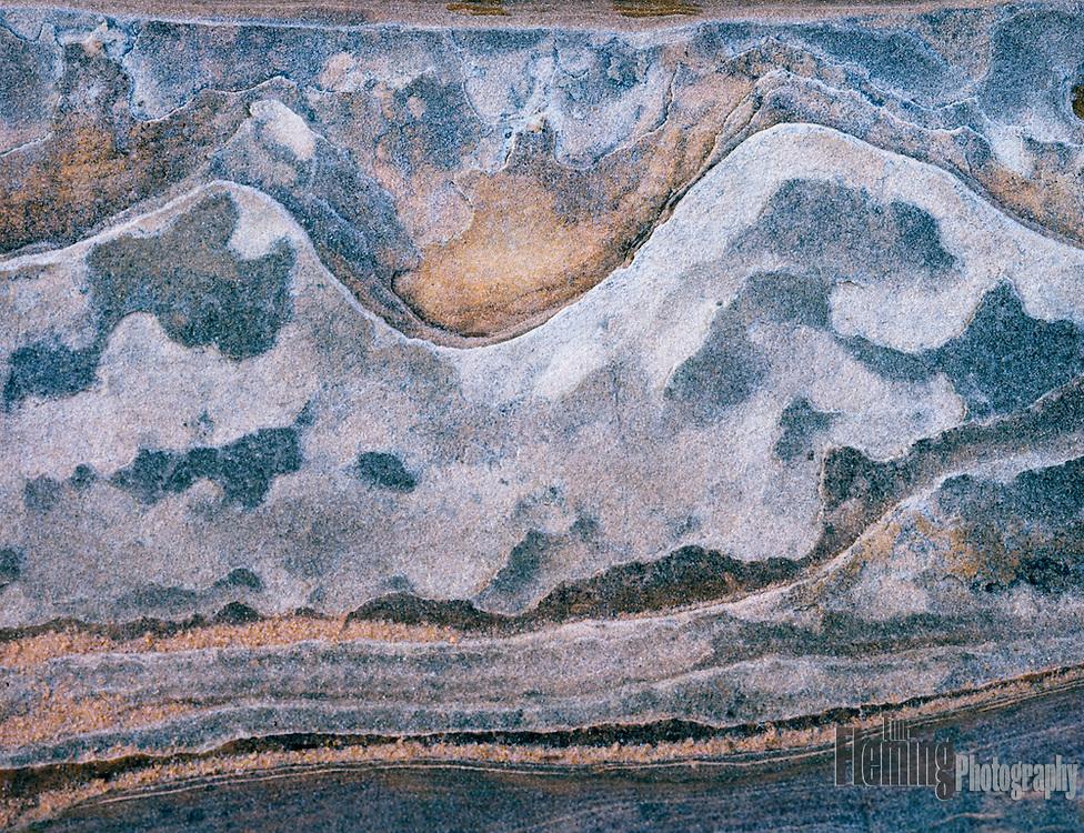 Closeup of slickrock in Zion National Park, Utah