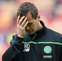 12/09/15 LADBROKES PREMIERSHIP<br /> ABERDEEN v CELTIC <br /> PITTODRIE - ABERDEEN<br /> Celtic manager Ronny Deila