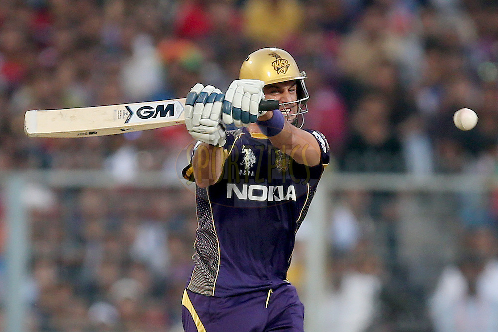 Ryan ten Doeschate during the first qualifier match (QF1) of the Pepsi Indian Premier League Season VII 2014 between the Kings XI Punjab and the Kolkata Knight Riders held at Eden Gardens Cricket Stadium, Kolkata, India on the 28th May 2014. Photo by Jacques Rossouw / IPL / SPORTZPICS<br /> <br /> <br /> <br /> Image use subject to terms and conditions which can be found here:  http://sportzpics.photoshelter.com/gallery/Pepsi-IPL-Image-terms-and-conditions/G00004VW1IVJ.gB0/C0000TScjhBM6ikg