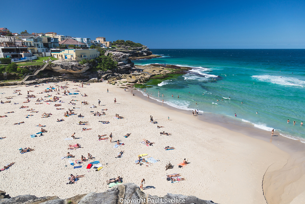 A beautiful autumn day at Tamarama Beach, Sydney, Australia.