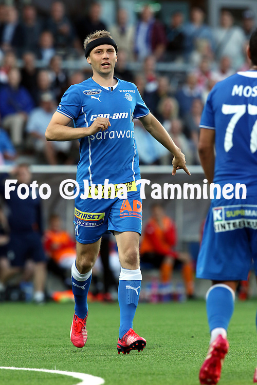 17.8.2015, Sonera Stadion, Helsinki.<br /> Veikkausliiga 2015.<br /> Helsingfors IFK - Rovaniemen Palloseura.<br /> Tommi Haanp&auml;&auml; - RoPS