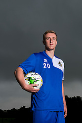 Jamie Lucas poses for a portrait as Bristol Rovers return to training ahead of their 2015/16 Sky Bet League Two campaign - Photo mandatory by-line: Dougie Allward/JMP - 07966 386802 - 02/07/2015 - SPORT - Football - Bristol, England - The Lawns Training Ground, Henbury - Sky Bet League Two.